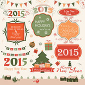 Label or sticker for Christmas and New Year celebration. — Stock Vector