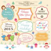Sticker or label for New Year, Christmas and Chinese Year of goa — Stock Vector