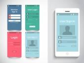 Concept of mobile user interface. — Vecteur