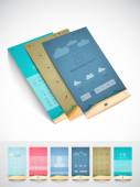 Brochure and template for mobile user interface. — Stock Vector