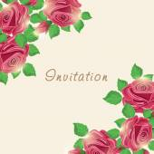 Invitation card with rose. — Stock Vector