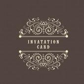 Invitation card design. — Stock Vector