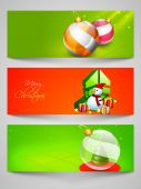 Web header or banner set for Merry Christmas celebration. — Stock Vector