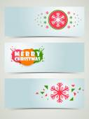 Merry Christmas celebration banner or web header. — Stock Vector