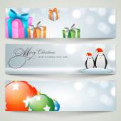 Banner or web header design for Merry Christmas celebration. — Vettoriale Stock