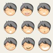 Concept of different expressions. — Stock Vector