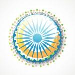 Indian Republic Day celebration with Ashoka Wheel. — Stock Vector #61549271