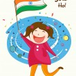 Indian Republic Day celebration with cute girl. — Stock Vector #61549865