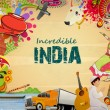 ������, ������: Poster or banner design of Incredible India