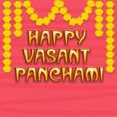 Greeting card design for Happy Vasant Panchami. — Stock vektor