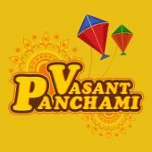 Poster or banner design for Vasant Panchami celebration. — Stock Vector