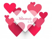 Happy Valentine's Day celebrations with heart. — Vettoriale Stock