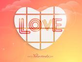 Happy Valentine's Day celebration with creative love heart. — Vector de stock
