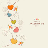 Happy Valentine's Day celebration greeting card design. — Cтоковый вектор