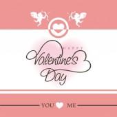 Greeting card design for Happy Valentine's Day celebration. — Stock Vector