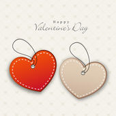 Happy Valentine's Day celebrations with tags. — Vector de stock
