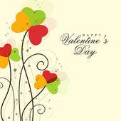 Greeting card design for Happy Valentine's Day celebrations. — Cтоковый вектор