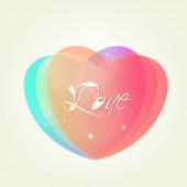красивые сердца для празднования дня святого валентина. — Cтоковый вектор