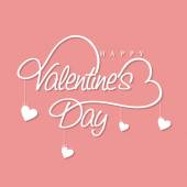 Beautiful text with hearts for Valentine's Day celebration. — Vettoriale Stock