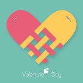 Happy Valentine's Day celebrations with heart shape. — Vector de stock