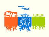 Happy Indian Republic Day celebration concept. — Stock Vector