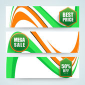 Website header or banner for Indian Republic Day. — Stock Vector