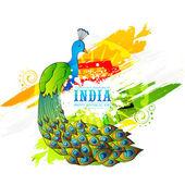 Beautiful peacock for Indian Republic Day celebration. — Stockvektor
