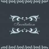 Invitation card design concept. — Stok Vektör