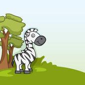 Cute funny zebra concept. — Stock Vector