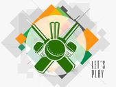 Design autocollant ou étiquette pour le Cricket. — Vecteur