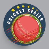 Sticker, label or badge for Cricket Series. — Stock Vector