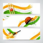 Header or banner set for Cricket. — Stockvektor