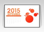 Monthly calendar page of September 2015. — Stock Vector