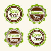 Badge, label and sticker for food shop. — Wektor stockowy