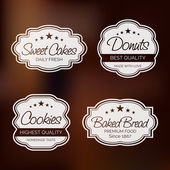 Badge, label and sticker for food shop. — Stock Vector