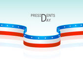 Glossy stripes for American Presidents Day celebration. — Stock Vector