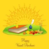 Hindu religion festival, Vasant Panchami celebration concept. — Stock Vector