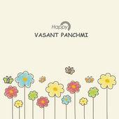 Happy Vasant Panchami festival celebration concept. — Stock Vector