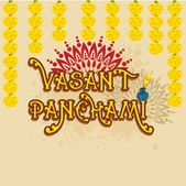 Greeting card design for Happy Vasant Panchami. — Stock Vector