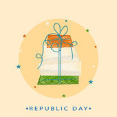 Greeting card design for Indian Republic Day celebration. — Stock Vector