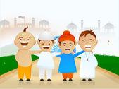 Indian Republic Day celebration with kids. — Vecteur