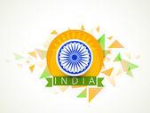 Indian Republic Day celebration with Ashoka Wheel. — Stock Vector