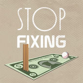 Stop fixing poster or banner design for Cricket. — Stock Vector