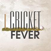 Design di poster e striscioni per Cricket febbre. — Vettoriale Stock