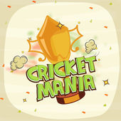 Winning trophy for Cricket Mania. — Stock Vector