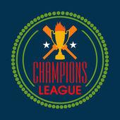 Badge design for Cricket Champions League. — Stock Vector
