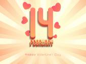 14 February, Happy Valentine's Day celebration — Vector de stock