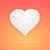 Greeting card with heart for Valentine's Day celebration. — Stok Vektör