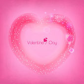 Valentine's Day celebrations with heart. — Stock Vector