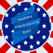 Sticker or label design for Happy Presidents Day celebration. — Stock Vector